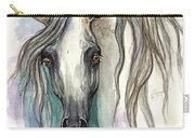 Grey Arabian Horse 2013 11 26 Carry-all Pouch