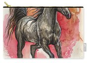 Grey Arabian Horse 2014 01 12 Carry-all Pouch