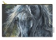 Grey Arabian Horse Oil Painting 2 Carry-all Pouch