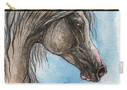 Grey Arabian Horse Watercolor Painting 5 Carry-all Pouch