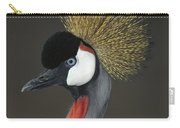 Grey Crowned Crane Portrait Carry-all Pouch