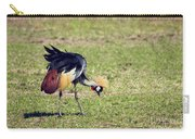 Grey Crowned Crane. The National Bird Of Uganda Carry-all Pouch