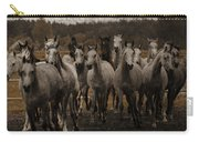 Grey Horses Carry-all Pouch