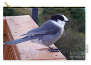 Grey Jay On A Rail Carry-all Pouch