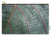 Grey Leaf With Purple Veins 2 Carry-all Pouch