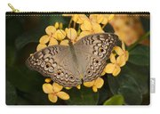 Grey Pansy Butterfly Arizona Carry-all Pouch
