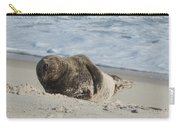 Grey Seal Pup On Beach Carry-all Pouch