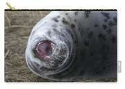 Grey Seal Pup Yawning Carry-all Pouch