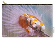 Grid Above Flowers Carry-all Pouch