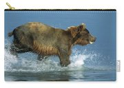 Grizzly Bear Chasing Fish Carry-all Pouch