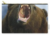 Grizzly Bear Close Up Of Growling Face Carry-all Pouch