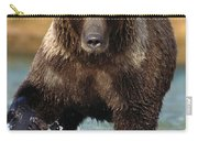 Grizzly Bear Female Looking For Fish Carry-all Pouch