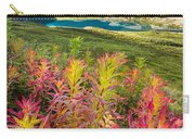 Grizzly Bear Fireweed Carry-all Pouch by Tim Newton