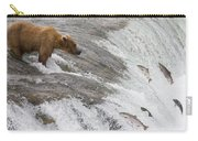 Grizzly Bear Fishing For Sockeye Salmon Carry-all Pouch