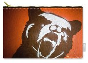 Grizzly Bear Graffiti Carry-all Pouch by Edward Fielding