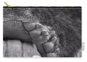 Grizzly Bear Paw Black And White Carry-all Pouch