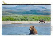 Grizzly Bears In Moraine River In Katmai National Preserve-ak Carry-all Pouch