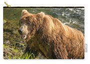Grizzly On The River Bank Carry-all Pouch