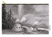 Grotto Geyser Yellowstone National Park Carry-all Pouch