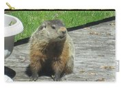 Groundhog Holding A Stick Carry-all Pouch