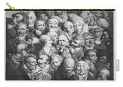 Group Of Thirty-five Heads Carry-all Pouch
