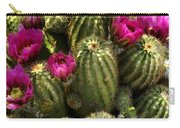 Grouping Of Cactus With Pink Flowers Carry-all Pouch