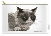 Grumpy Pussy Cat Carry-all Pouch by Jack Pumphrey