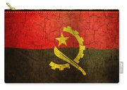 Grunge Angola Flag Carry-all Pouch