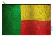Grunge Benin Flag Carry-all Pouch