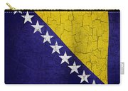 Grunge Bosnia And Hertzegoniva Flag Carry-all Pouch