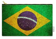 Grunge Brazil Flag Carry-all Pouch