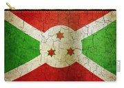 Grunge Burundi Flag Carry-all Pouch