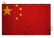 Grunge China Flag Carry-all Pouch
