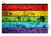 Grunge Colorful Wood Planks Background Carry-all Pouch