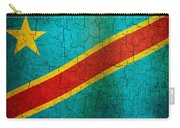 Grunge Democratic Republic Of The Congo Flag Carry-all Pouch