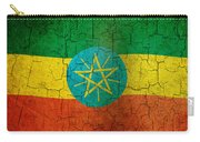 Grunge Ethiopia Flag Carry-all Pouch