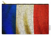 Grunge France Flag Carry-all Pouch
