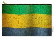 Grunge Gabon Flag Carry-all Pouch