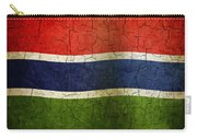 Grunge Gambia Flag Carry-all Pouch