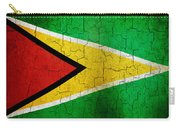 Grunge Guyana Flag Carry-all Pouch