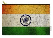 Grunge India Flag Carry-all Pouch