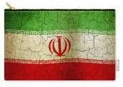 Grunge Iran Flag Carry-all Pouch
