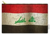 Grunge Iraq Flag Carry-all Pouch
