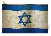 Grunge Israel Flag Carry-all Pouch