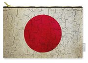 Grunge Japan Flag Carry-all Pouch
