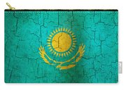 Grunge Kazakhstan Flag Carry-all Pouch