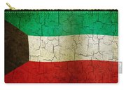Grunge Kuwait Flag Carry-all Pouch