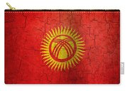 Grunge Kyrgyzstan Flag Carry-all Pouch