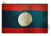 Grunge Laos Flag Carry-all Pouch