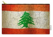Grunge Lebanon Flag Carry-all Pouch